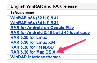 Download WinRAR for Mac OSX